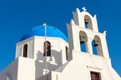 White church with blue roof Stock Photography