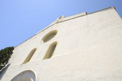 White church in Cadaques Royalty Free Stock Image