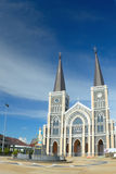 Beautiful white church of Christ in Thailand. Stock Photography