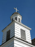 White Church Closeup. A closeup of the cupola on a white church in a small town in Washington State royalty free stock image