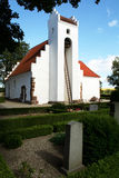White church in countryside Royalty Free Stock Photo