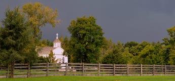 White Church Royalty Free Stock Photo