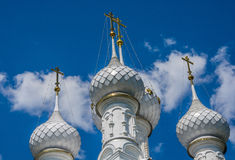 White Church domes. Stock Images
