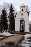 White Church. The white Church in the early spring Royalty Free Stock Photo