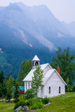 White church, field, canada Stock Photo