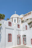 White Church at Fira Royalty Free Stock Images