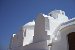 White church on Folegandros Stock Photo