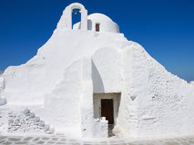 White church. The white church of Greece island Stock Photography