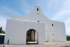 White church in Ibiza Royalty Free Stock Photo