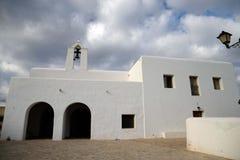 White church in ibiza Stock Photos