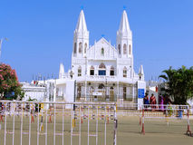 White church in India Royalty Free Stock Photos