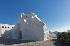 White Church on the island of Mykonos, Cyclades Islands Stock Photos