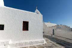 White Church on the island of Mykonos, Cyclades Islands Royalty Free Stock Photos