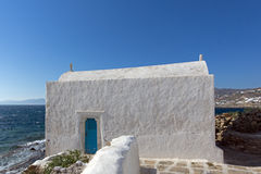 White Church on the island of Mykonos, Cyclades Islands Stock Photography