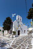 White Church on the island of Mykonos, Cyclades Islands Royalty Free Stock Photo