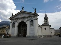 Aosta, italy royalty free stock images