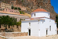 White church in Monemvasia Royalty Free Stock Images