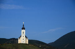 White church in mountain Royalty Free Stock Images