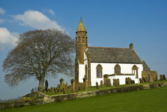 White church, Mouswald, Dumfriesshire, Scotland, Stock Image