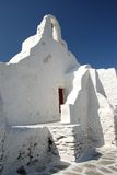White Church in Mykonos Stock Images