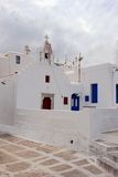 White Church in Mykonos Stock Photography
