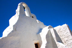 White church - Mykonos - Greece Stock Photography