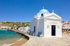 White church in Mykonos,Greece Royalty Free Stock Photo