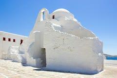 White church in Mykonos,Greece Stock Photos