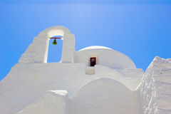 White church in Mykonos,Greece Stock Photo