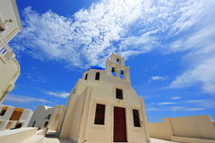 White Church in Oia, Santorini Royalty Free Stock Image
