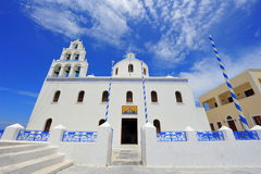 White Church in Oia, Santorini Stock Photography