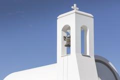 White church and palms, Agia napa, Cyprus Royalty Free Stock Image