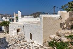 White church in Parakia, Paros island, Greece Royalty Free Stock Photography