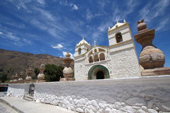 White church in the Peru Stock Images