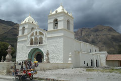 White church, Peru Royalty Free Stock Photo