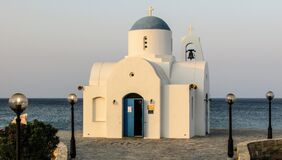 White Church Photo Near Ocean Royalty Free Stock Photo