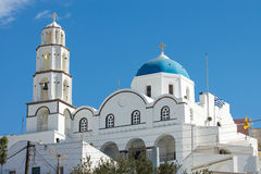 The white church of Pyrgos Royalty Free Stock Image