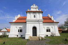 White Church with red roof Royalty Free Stock Image