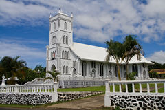 White church in samoa Royalty Free Stock Image