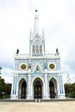 White church in Samut Songkhram Stock Photos
