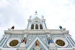 White church in Samut Songkhram Stock Images