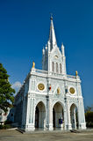 White church, Samut Songkhram, thailand Stock Image