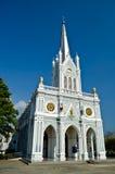 White church, Samut Songkhram, thailand. White christian church, Samut Songkhram, thailand Stock Image