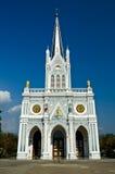 White church, Samut Songkhram, thailand. White christian church, Samut Songkhram, thailand Royalty Free Stock Photo