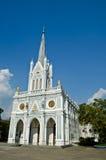 White church, Samut Songkhram, thailand. White christian church, Samut Songkhram, thailand Royalty Free Stock Images