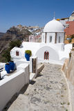 White Church in Santorini Royalty Free Stock Photo