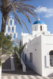 White church in Santorini Royalty Free Stock Images