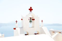 White church in Santorini, Greece Royalty Free Stock Photography