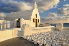 White church in Santorini, Greece Royalty Free Stock Photography