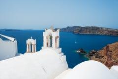 White church on Santorini island, Greece Stock Photography